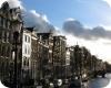 Typické amsterdamské domy a kanály